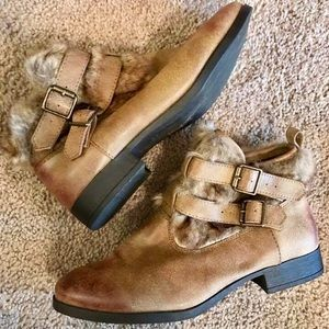 Forever21 brown ankle boots